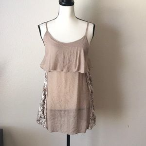 A'Reve New Brown Lace Tank Top